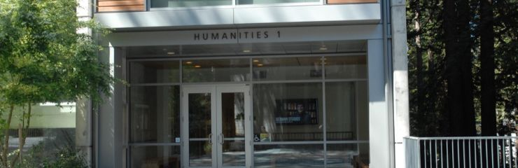 A picture of the main entrance to Humanities 1